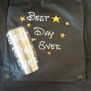 Other - Custom, Designer cup and bag set.